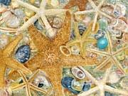 Starfish And Mermaid Chips Print by Vicky Watkins