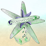 Starfish Digital Art - Starfish by Debra  Miller