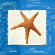 Oceanography Prints - Starfish Galore Print by Lourry Legarde