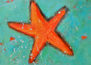 Interior Still Life Painting Metal Prints - Starfish Metal Print by Patricia Awapara
