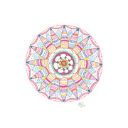 Mandala Drawings - Starfish by Signe  Beatrice