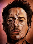 Robert Downey Jr. Prints - Stark Difference Print by Herbert Renard