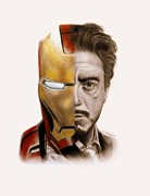 Celebrity Mixed Media Posters - Stark  Poster by Sheena Pike