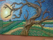 Painted Reliefs - Stark Tree. by Geetanjali Kapoor