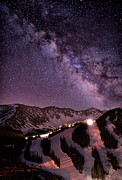Loveland Photo Prints - Starlight Mountain Ski Hill Print by Mike Berenson