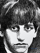 Ringo Starr Drawings - Starr by Robbi  Musser