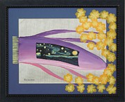 Original  By Artist Paintings - Starry Night Flower by Ron Davidson