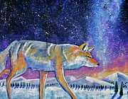 Coyote Art Paintings - Starry Night by Harriet Peck Taylor