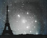 Statigram Prints - Starry Night in Paris - Eiffel Tower Photography  Print by Marianna Mills