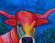 Longhorn Originals - Starry Night Longhorn by Patti Schermerhorn