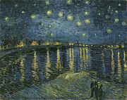Masterpiece Digital Art Prints - Starry Night Over the Rhone Print by Nomad Art And  Design
