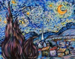 Copy Paintings - Starry Night Tribute by Emily Michaud