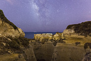 Mediterranean Landscape Prints - Starry Sky at Praia do Castelo Print by Andre Goncalves