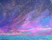 Religious Artist Painting Metal Prints - Starry.....starry night Metal Print by J Michael Orr