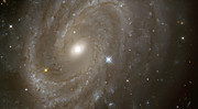 Hubble Photos - Stars and Spiral Galaxy by The  Vault