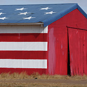 Farming Barns Framed Prints - Stars and Stripes Framed Print by Art Block Collections