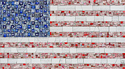Mosaic Mixed Media - Stars and Stripes by Emily Lawlor