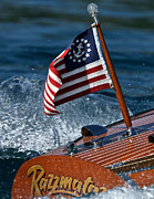 Mahogany Red Photo Prints - Stars and Stripes Ensign Print by Steven Lapkin