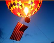 Party Balloons Prints - Stars and Stripes Glow Print by Paul Anderson