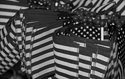 11 Wtc Digital Art Posters - STARS AND STRIPES in BLACK AND WHITE Poster by Rob Hans