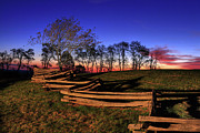 Split Rail Fence Photo Prints - Stars at Sunrise on the Blue Ridge Print by Dan Carmichael