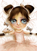 Blue Eyed Girl Prints - Stars In Her Eyes Print by Karin Taylor