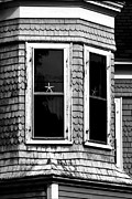 Old House Photographs Prints - Stars In The Window Print by K Hines