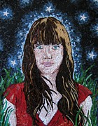 Mosaic Portrait Glass Art - Stars by Monique Sarfity