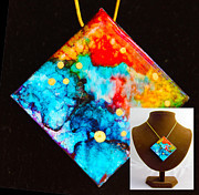 Sky Jewelry - Stars on Granite Necklace by Alene Sirott-Cope