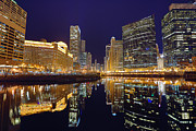 Beauty Mark Photos - Stars Over Chicago by Nicholas Johnson