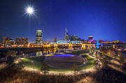 Nashville Skyline Photos - Stars over Nashville by Malcolm MacGregor
