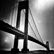 Natasha Marco Prints - Stars Over The Verrazano Print by Natasha Marco