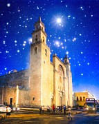 Moorish Architecture Framed Prints - Stars Shine on Merida Framed Print by Mark E Tisdale