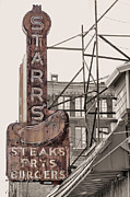 Old Diner Photos - Stars Steaks Frys and Burgers by JC Findley