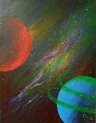 Planet System Paintings - Stars by Tomislav Turkalj
