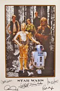 Autographs Framed Prints - Stars Wars Framed Print by Donna Wilson