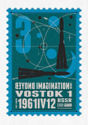 Starschips 03-poststamp - Vostok Print by Chungkong Art