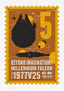 Science Fiction Prints - Starschips 05-poststamp -Star Wars Print by Chungkong Art