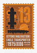 Science Fiction Art - Starschips 13-poststamp - Space 1999 by Chungkong Art