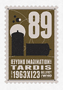 Poststamps Digital Art - Starschips 89-BONUS-poststamp - DR WHO - TARDIS by Chungkong Art