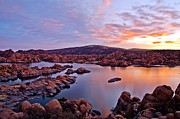 Watson Lake Photos - Start of a New Day by Jag Fergus