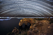 Startrail Photos - Startrail at Praia da Marinha by Andre Goncalves
