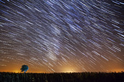 Startrail Framed Prints - Startrail in Alentejo Framed Print by Andre Goncalves