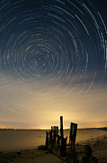 Startrails Photo Acrylic Prints - Startrails 2 Acrylic Print by Benjamin Reed