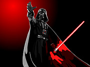 Starwars Digital Art Prints - Starwars Darth Vader Print by Paul Dunkel