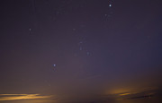 Stary Sky Prints - Stary night with two meteors and a plane crossing Print by Eti Reid