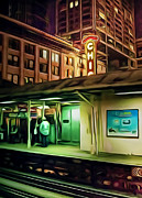 Rail Digital Art Framed Prints - State and Lake Framed Print by Scott Norris