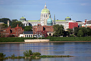 State Capitol Building Harrisburg Pennsylvania Print by Bill Cobb