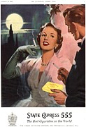 1950Õs Metal Prints - State Express 555 1950s Uk Cigarettes Metal Print by The Advertising Archives