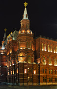 State Historical Museum Moscow Print by Elena Nosyreva